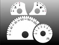 2006-2008 Chevrolet HHR Metric KPH Dash Cluster White Face Gauges KMH