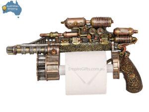 1 x Steampunk Gothic Antique Style Gun Revolver Toilet Roll Paper Holder