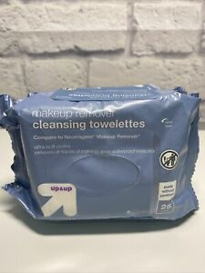 Up & Up Makeup Remover Cleansing Towelettes Wipes 25 Ct Each Lot of 2