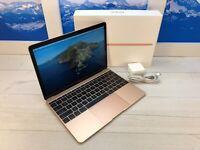 "Apple MacBook Retina 2017 12"" Laptop 256GB 1.2GHz 8GB RAM Gold w/Box 112 cycles"