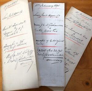 1800s Antique Share Document Scarborough Public Market Ephemera History Signed