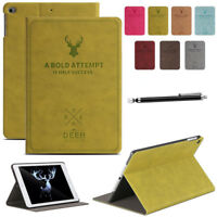 Magnet Smart PU Leather Cover Auto Sleep/Wake  Stand Case For Apple iPad Tablets