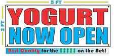 Yogurt Now Open Banner Sign New