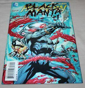 Signed Aquaman DC #23.1 Black Manta 3-D Lenticular Variant ~ NM ~ 2013 (A65)