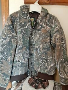 Cabelas Youth Boys Camo Realtree XL Camouflage Hunt Insulated Jacket with Hood