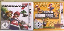 Mario Kart 7 + new super mario bros .2 para ninetndo 2ds 3ds (New) XL. top!!!