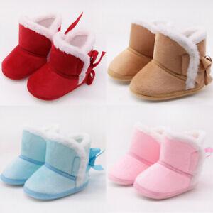 Baby Kids Girls Soft Booties Winter Snow Boots Infant Toddler Newborn Shoes LIU9