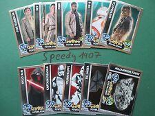 Topps Star wras Force coronó despertar el poder todos 32 tarjetas de brillo completo