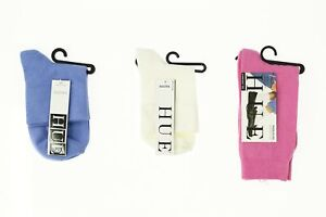 Lot of 3 HUE socks white / blue / pink 140576
