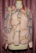 LUCIA ♥ lecomte ♥ Bluse aus Chiffon + Satin ♥ Gr. 38 *TOPst* elegant leicht