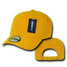 Gold Yellow Vintage Curve Bill Blank Solid Snapback Baseball Cap Caps Hat Hats