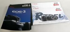CANON EOS CAMERA BOOKLETS/BROCHURES - REBEL, EOS1, EOS3