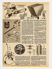 1959 AD TRAMS GAS-POWERED CHAIN SAWS SKIL HEDGE TRIMMERS BURGESS HAND SPAYER