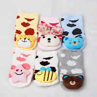 New Baby Girls Boys Animal Anti-Slip Slipper Socks 0-6,6-12 Months