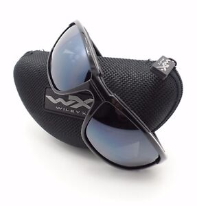Wiley X Boss Gloss Black Silver Flash New Sunglasses Authentic CCBOS01