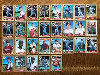 1987 PHILADELPHIA PHILLIES Topps Complete MLB Team 29 Card Set SCHMIDT TEKULVE!