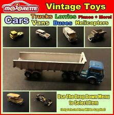 Vintage Majorette Toy Cars, Trucks, Buses, Helicopters +More (Select Item) Used