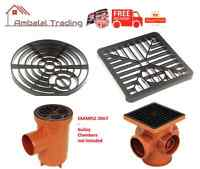 """Black Round 6"""" 150mm Heavy Duty Plastic Drain Grate Gully Grid Cover Covers"""