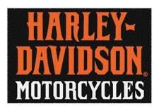 Harley-Davidson Rev-Up Large Tufted Rug, 39 x 59 In, Black & Orange NW949195