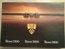 Rover 2300 2600 3500 Leyland Cars Brochure 1978 In Excellent Condition 22 pages