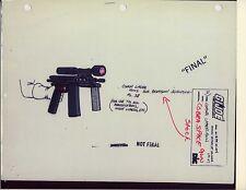 "G.I. Gi Joe Cobra Laser Gun Model Cel ""Photo"" 80-90's Cartoon 1990 Dic Animation"