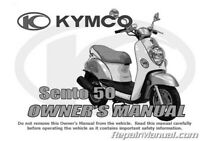 Kymco Sento 50 Scooter Owners Manual