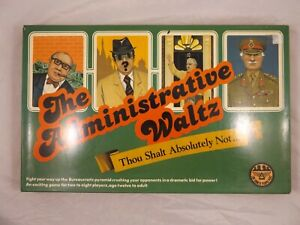 The Administrative Waltz Board Game Vintage Family Party Complete