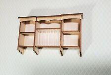 Dollhouse Miniature Plate Rack Hanging Kitchen Shelf DIY KIT 1:12 Scale Cupboard