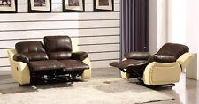 Voll-Leder Couch Sofa Garnitur Relaxsessel Fernsehsofa 5129-2+1-377-317