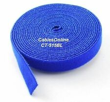 Wrap Hook & Loop Cable Tie 15 ft./Roll Blue, CT-515BL