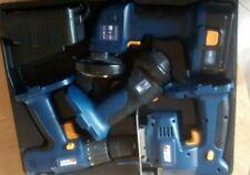 Powercraft 4pc 18 V Rompecabezas Inalámbrico, Taladro Conjunto De Herramientas, Amoladora de ángulo, Antorcha