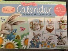 Bebunni Cute Bunny Rabbit Calendar With 6 Cross Stitch Charts