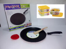 Peacock Non Stick Dosa Tawa With FREE 3 Ruchi Storewel Containers