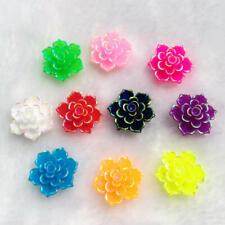 Hot 20Pcs 20mm AB Resin 3D Flower Stone Flatback Wedding Design Button Craft DIY