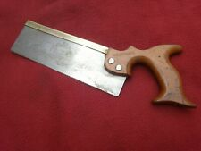 """VINTAGE/ANTIQUE BRASS BACKED """"DOVETAIL SAW""""-CASTLE SHEFFIELD-OLD HAND TOOL"""