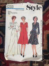 Vintage 70s Style Sewing Pattern Maxi Midi Dress Size 8