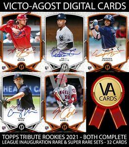 Topps Bunt Tribute Rookies League Inauguration Signature Sets 32 Cards BUNT APP