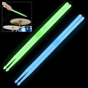 New 1 Pair Music Band Luminous Drum Sticks Drumsticks 5A Glow in The Dark Stage