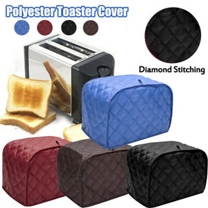 Toaster Cover 2-Slice Bread Machine Kitchen Appliance Dust Fingerprint Protect