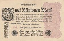 * Ro. 103a - 2 millones de Mark-Deutsches Reich - 1923-Fz: ek *