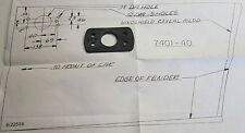 1974-77 AMC Hornet NOS radio antenna base pad & template
