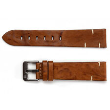20mm ColaReb Matera Mens Brown Sheepskin Leather Made in Italy Watch Band Strap
