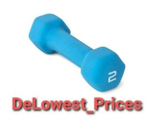 2LB Neoprene Dumbbell Brand New Unused Hex Great for Gym, Office or Home
