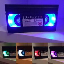Vhs Lámpara de Mesa amigos 90s Tv Retro Cambio de Color mercancía original