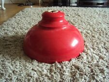 Retro Red Metal Lampshade in Great Condition