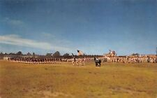 Camp Drum New York~Troops Passing In Review~Parade Ground~1960s Postcard