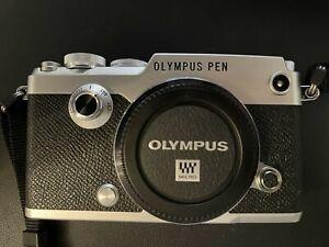 Olympus PEN-F 20.3MP Digital Camera - Silver - Low Use