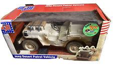 """Hasbro 12"""" GI Joe WWII 1941 Willys Tan Desert Patrol Jeep 2002 1/6"""
