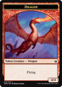Dragon Token x4 NM Magic the Gathering 4x War of the Spark mtg card lot