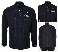 """NWT VIVIENNE WESTWOOD ANGLOMANIA BLUE DENIM WORKERS JACKET. XL. FITS CHEST 44"""""""